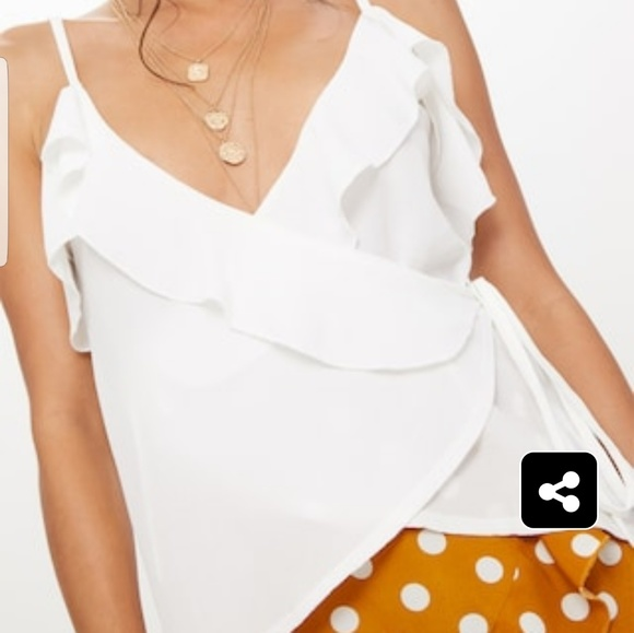 PRETTYLITTLETHING Pebble Chiffon Frill Cami Top Sale 2018 New Outlet Cost Free Shipping Geniue Stockist yMehHrir